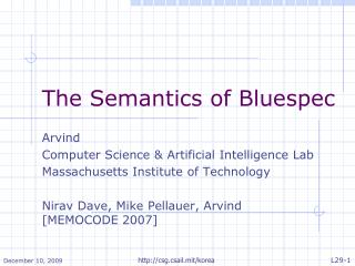 The Semantics of Bluespec