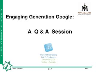 Engaging Generation Google: