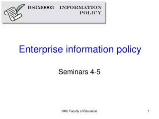 Enterprise information policy