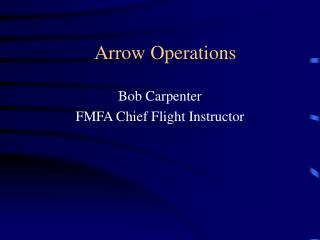 Arrow Operations