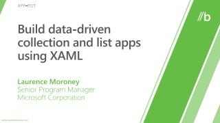 Build data-driven collection and list apps using XAML