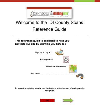 Welcome to the  DI County Scans Reference Guide ____________________________________