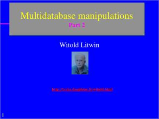 Multidatabase manipulations  Part 2