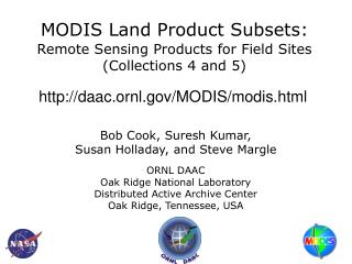MODIS Land Product Subsets: Remote Sensing Products for Field Sites (Collections 4 and 5)