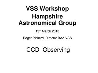 CCD  Observing