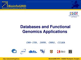 Databases and Functional Genomics Applications