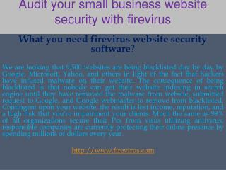 Audit your small business website security with firevirus