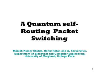 A Quantum self-Routing  Packet Switching