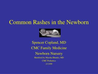 Common Rashes in the Newborn