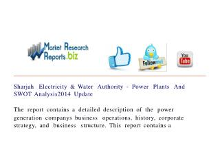 Sharjah Electricity & Water Authority - Power Plants And SWO