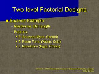 Two-level Factorial Designs