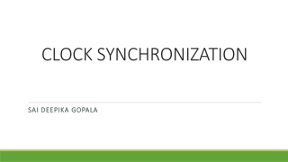 Distributed Systems: Synchronization
