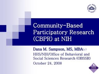 Community-Based Participatory Research (CBPR) at NIH