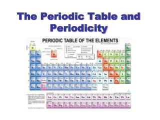 The Periodic Table and Periodicity