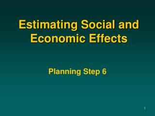 Estimating Social and Economic Effects