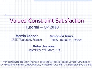 Valued Constraint Satisfaction