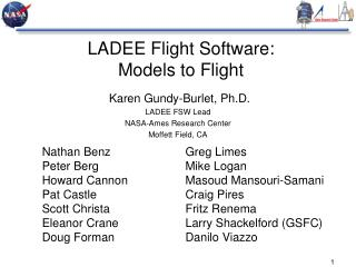 LADEE Flight Software:  Models to Flight