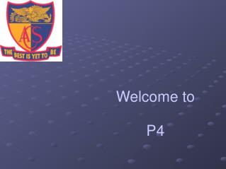 Welcome to P4