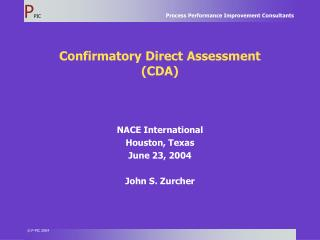 Confirmatory Direct Assessment (CDA)