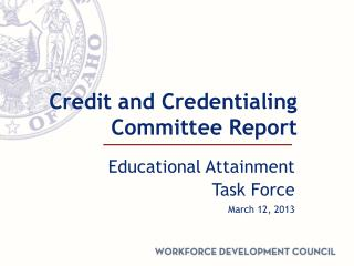 Credit and Credentialing Committee Report