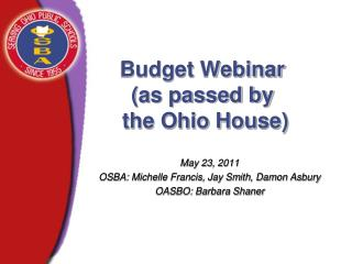 Budget Webinar (as passed by  the Ohio House)