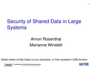 Security of Shared Data in Large Systems