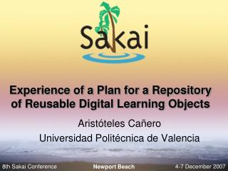 Experience of a Plan for a Repository of Reusable Digital Learning Objects