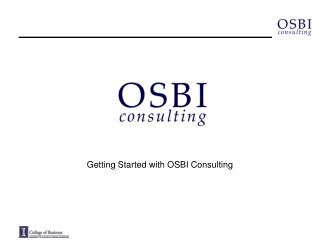 Getting Started with OSBI Consulting