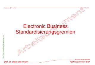 Electronic Business Standardisierungsgremien