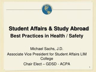 Student Affairs & Study Abroad