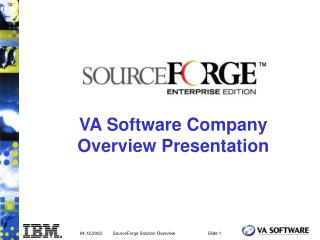 VA Software Company Overview Presentation