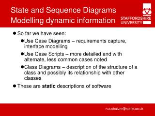 Modelling dynamic information