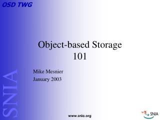Object-based Storage  101