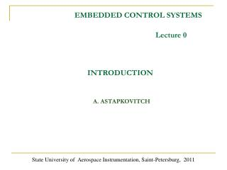 EMBEDDED CONTROL SYSTEMS