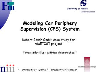 Modeling Car Periphery Supervision (CPS) System