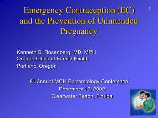 Emergency Contraception (EC)  and the Prevention of Unintended Pregnancy