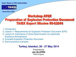 Expert   Mis s ion on  ATEX Implementation