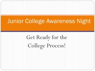 Junior College Awareness Night