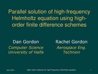Parallel solution of high-frequency Helmholtz equation using high-order finite difference schemes