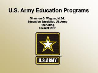 U.S. Army Education Programs