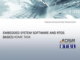 EMBEDDED SYSTEM SOFTWARE AND RTOS BASICS HOME TASK