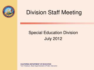 Division Staff Meeting