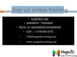 sap sd online training in bangalore