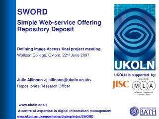 UKOLN is supported  by:
