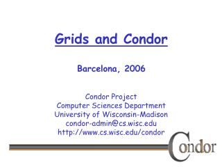 Grids and Condor Barcelona, 2006