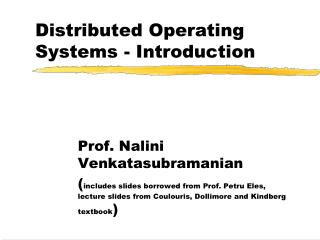 Distributed Operating Systems - Introduction