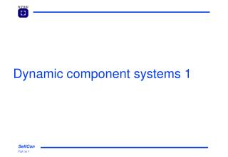 Dynamic component systems 1