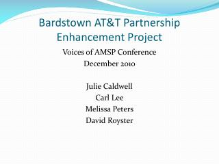 Bardstown AT&T Partnership Enhancement Project