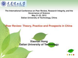 The International Conference on Peer Review, Research Integrity, and the Governance of Science