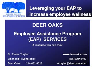 Leveraging your EAP to increase employee wellness
